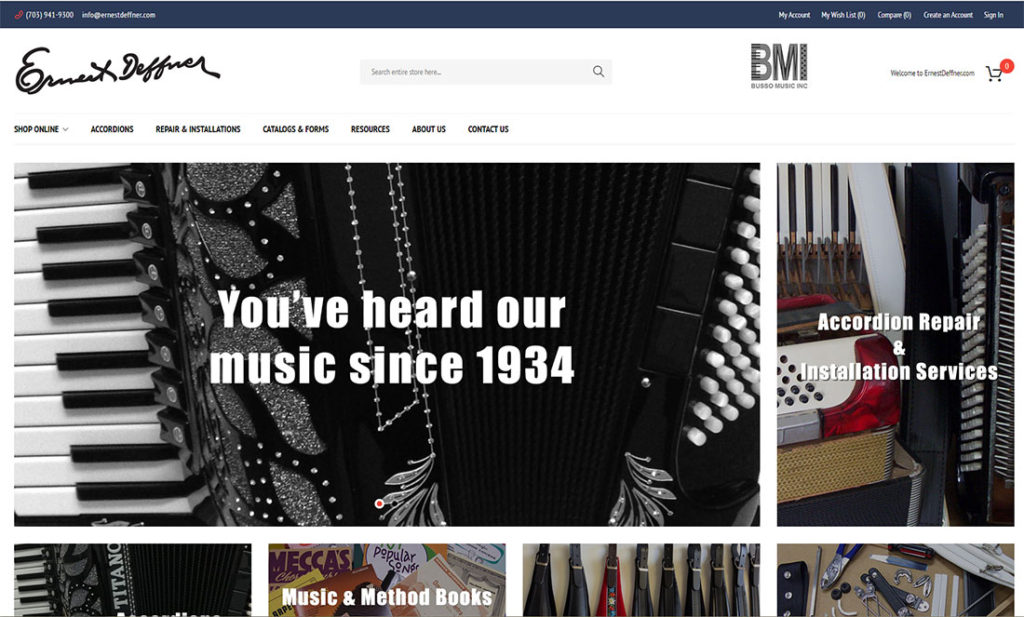 Magento music store website