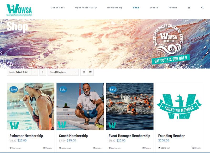 OpenWaterSwimming WordPress custom build