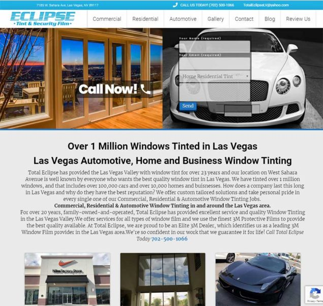 Las Vegas NV Tint SEO improvement