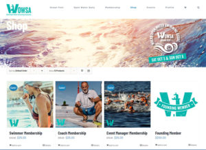 OpenWaterSwimming WordPress custom build