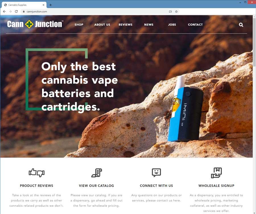 cannabis website design template