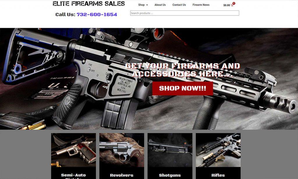 Elite Firearms Sales ecommerce store